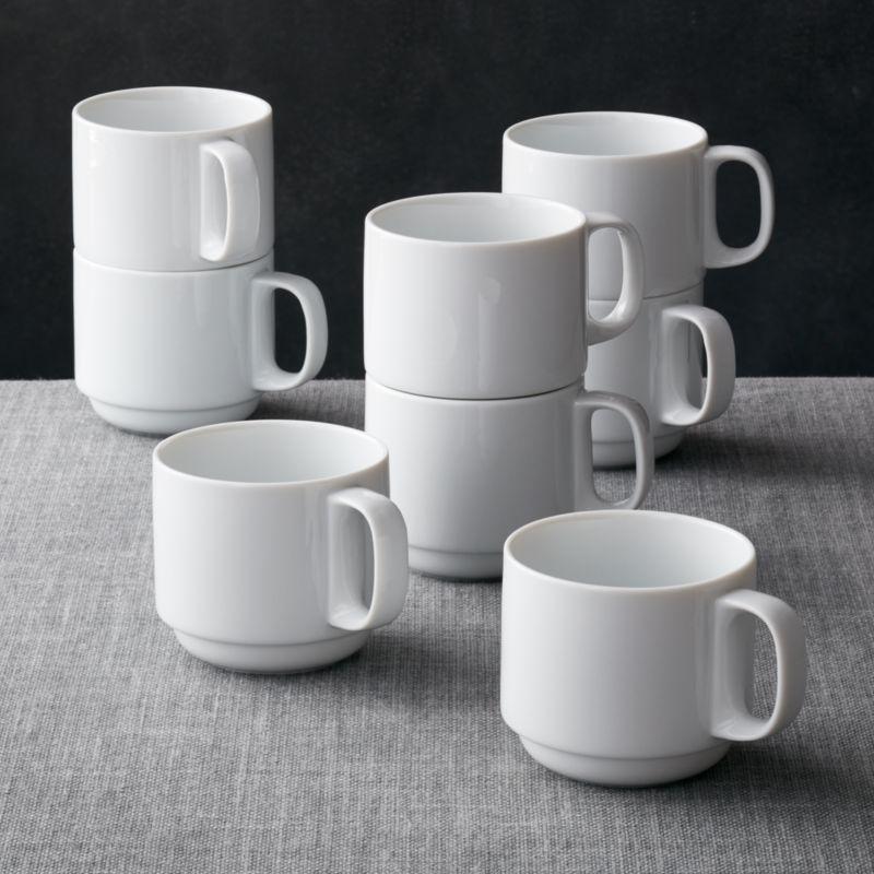 Set of 8 Logan Stacking Mugs