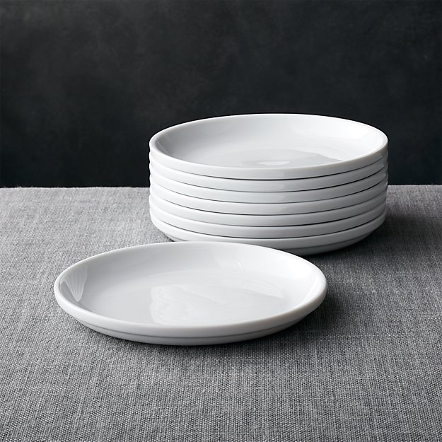 Set Of 8 Logan Stacking Salad Plates Crate And Barrel