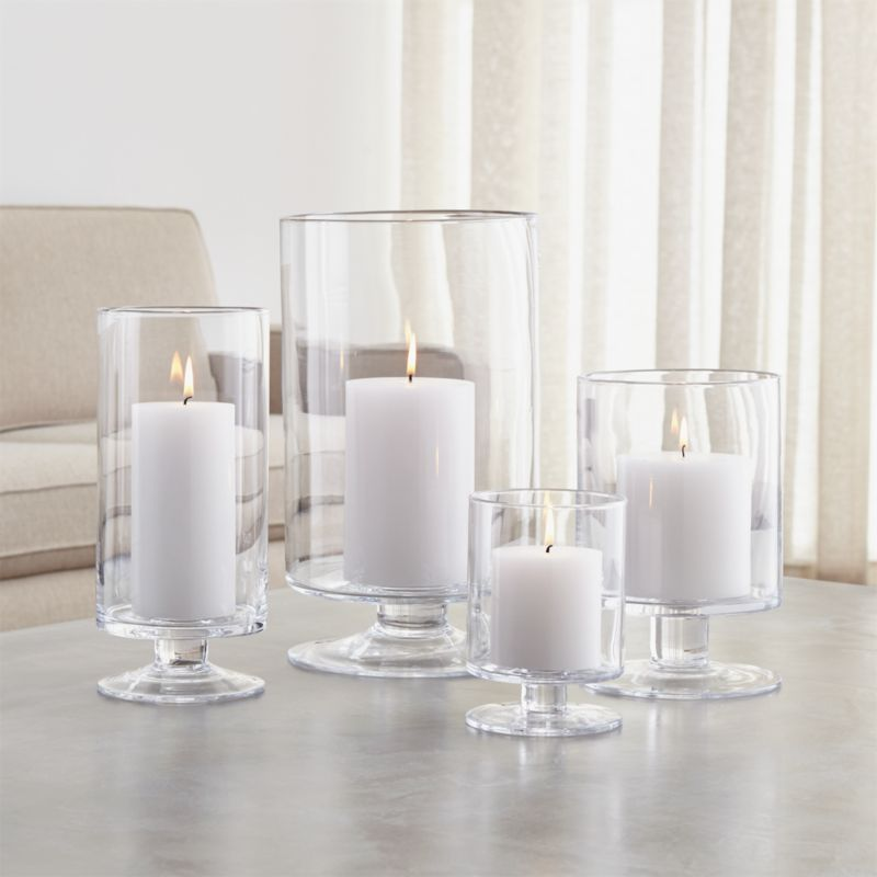 London glass hurricane candle holders crate and barrel for How to make glass candle holders