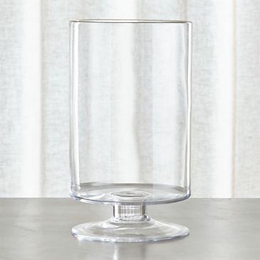 London Tall Glass Hurricane Candle Holder