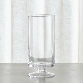 London Narrow Short Glass Hurricane Candle Holder