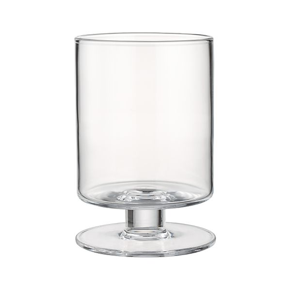 London Wide Short Glass Hurricane Candle Holder