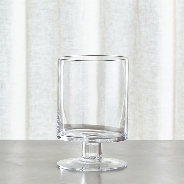 London Short Glass Hurricane Candle Holder Crate And Barrel