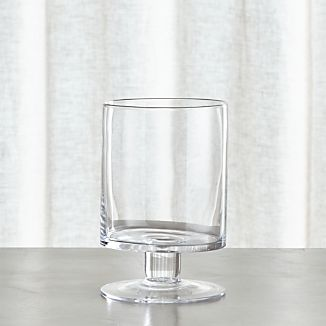 London Short Glass Hurricane Candle Holder