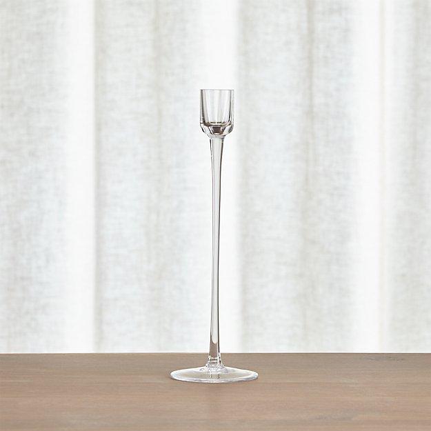 London Glass  Medium Taper Candle Holder