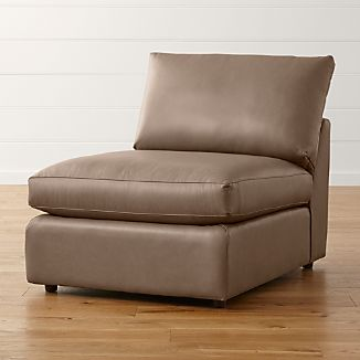 "Lounge II Leather 32"" Armless Chair"