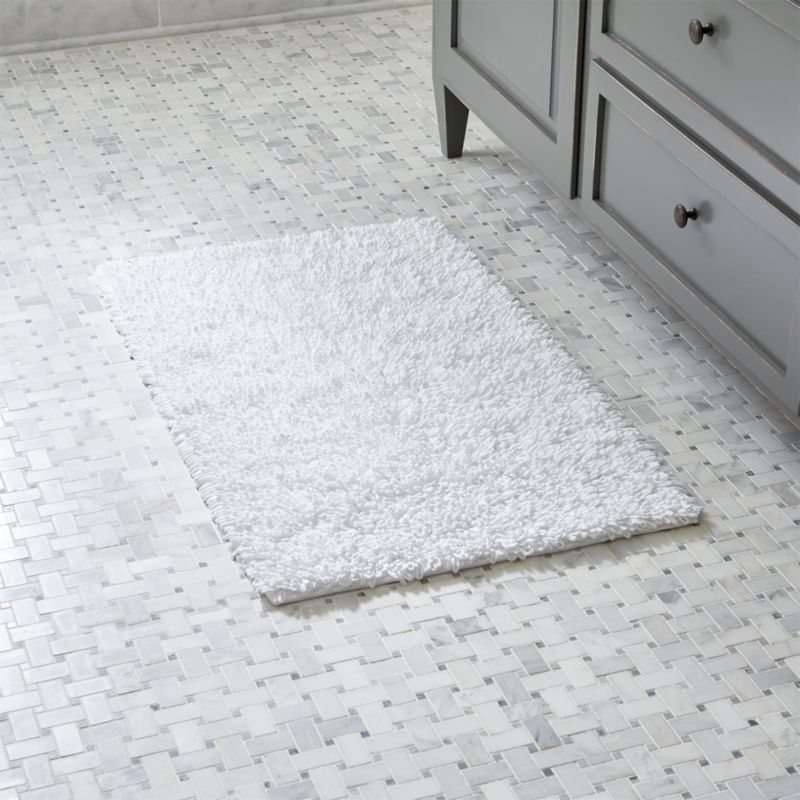 Crate And Barrel Bath Rugs: Loop White Bath Rug