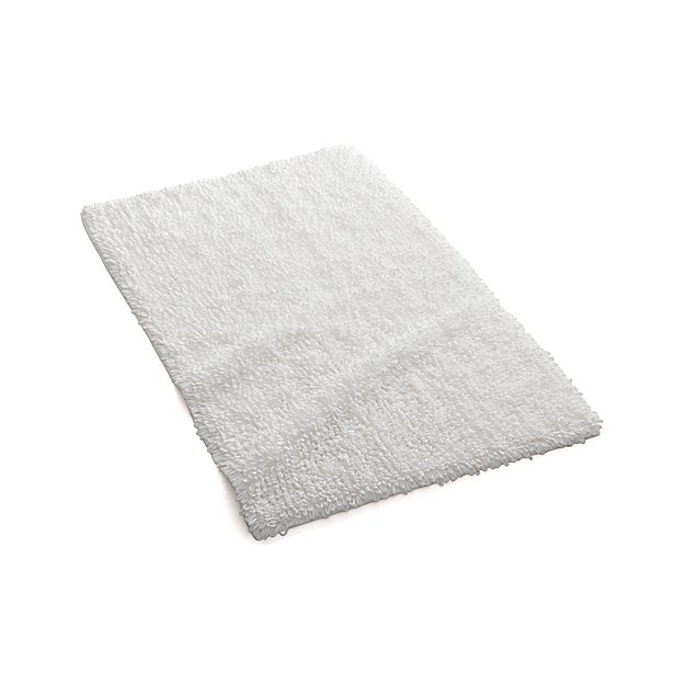 Amazing White Ultra Spa 17quotx24quot Bath Rug In Bath Rugs  Crate And Barrel