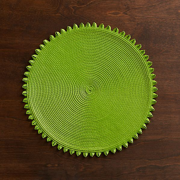 Loopdedoo Lime Placemat