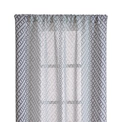 "Lorena Blue Chevron 48""x108"" Curtain Panel"