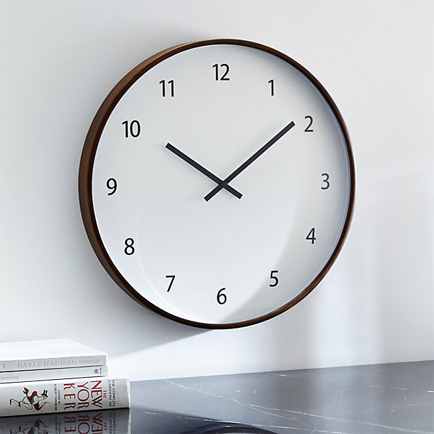 Large Wall Clock In Foyer : Lorne large wall clock crate and barrel