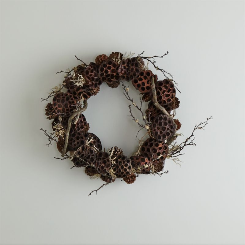 Lotus Pinecone Wreath