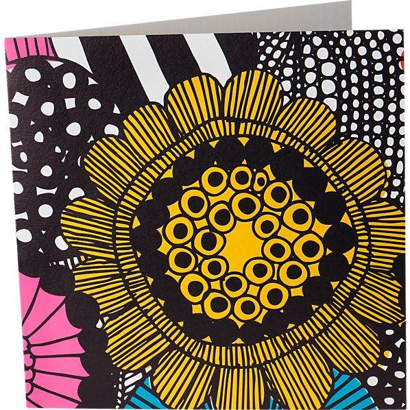 Set of 4 Marimekko Louekari Greeting Cards