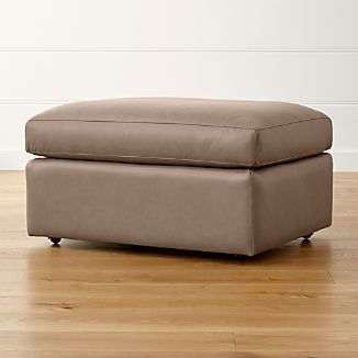 """Lounge II Leather 32"""" Ottoman with Casters"""