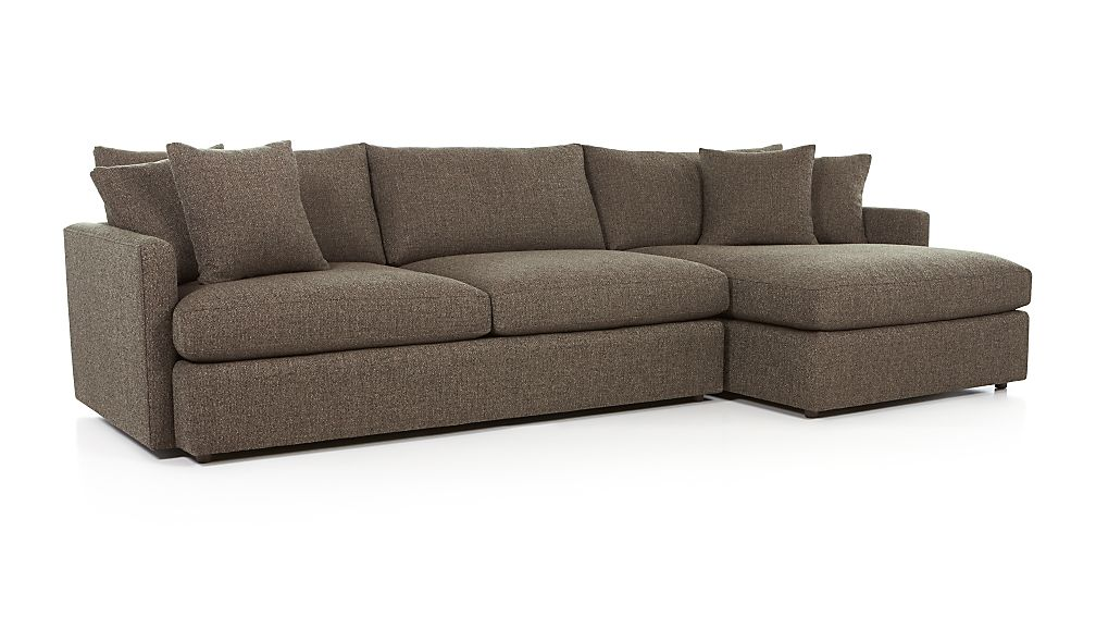 Lounge Ii 2 Piece Sectional Sofa Taft Heather Crate And