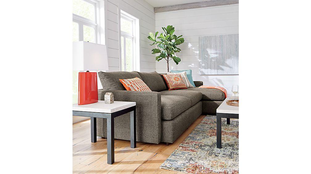 Lounge ii petite 2 piece sectional sofa crate and barrel for Lounge ii 2 piece sectional sofa