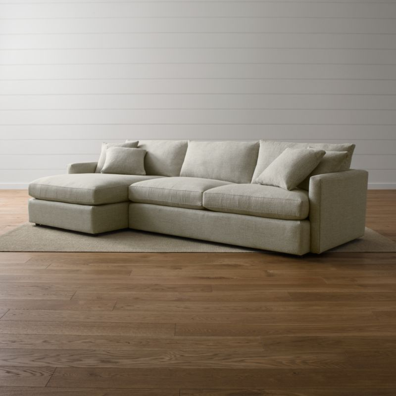 Lounge II 2-Piece Sectional Sofa Taft: Cement
