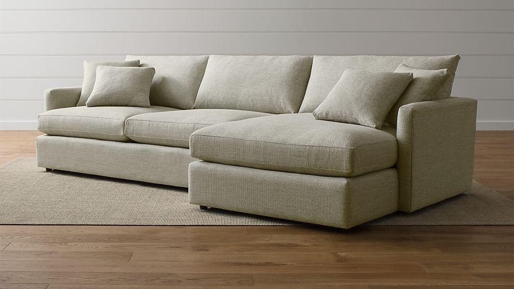 Lounge ii 2 piece sectional sofa taft cement crate and for Lounge ii 2 piece sectional sofa