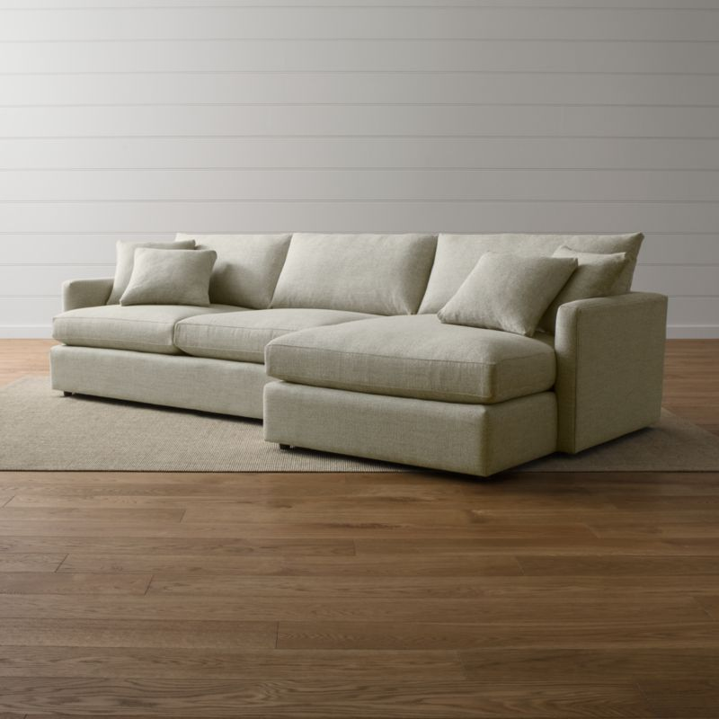 Lounge Ii 2 Piece Sectional Sofa Taft Cement Crate And