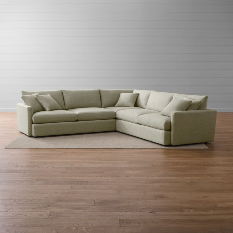 Lounge Ii 3 Piece Sectional Sofa Taft Cement Crate And