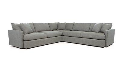 Lounge Ii 3 Piece Sectional Sofa Taft Steel Crate And