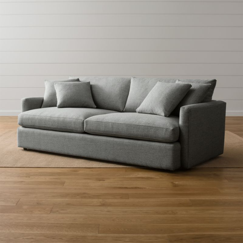 Lounge Ii Grey Couch Crate And Barrel
