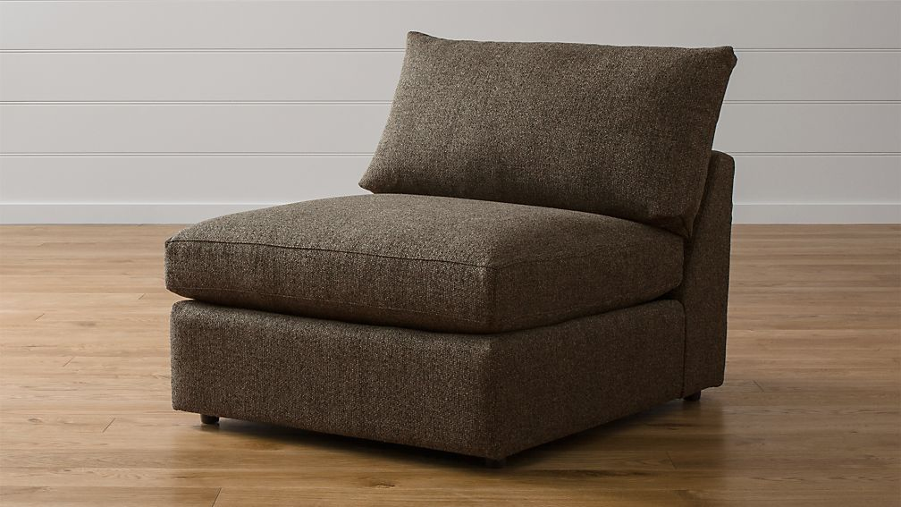 "Lounge II Armless 37"" Chair Taft Truffle"