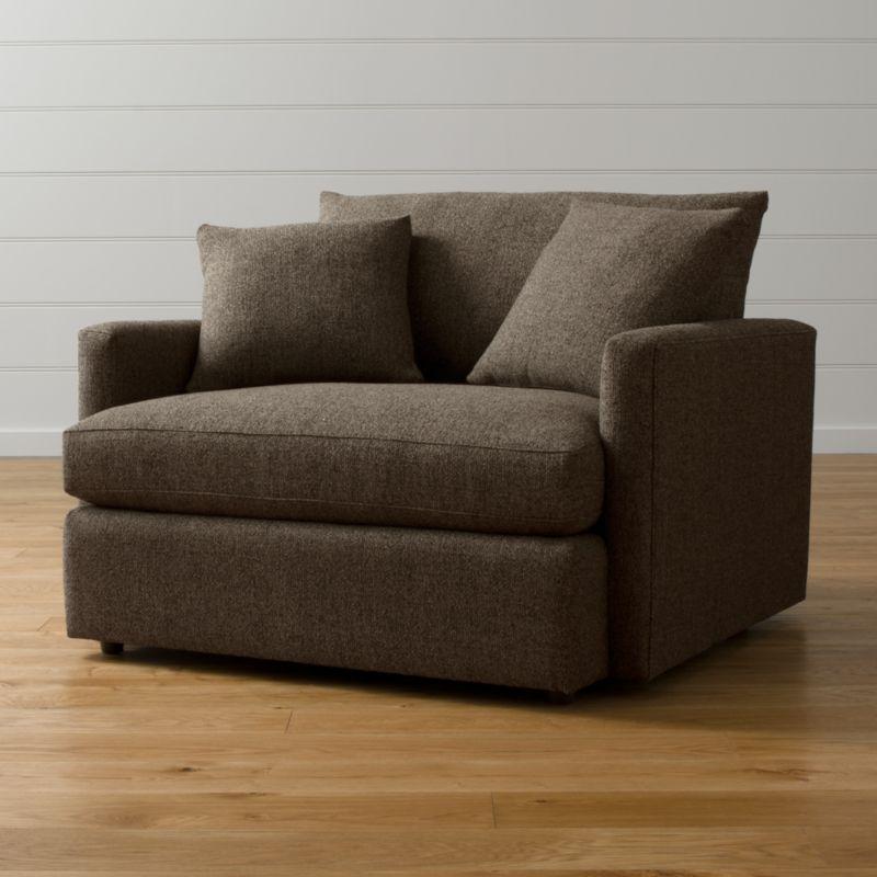 Lounge II Chair and a Half Taft Truffle