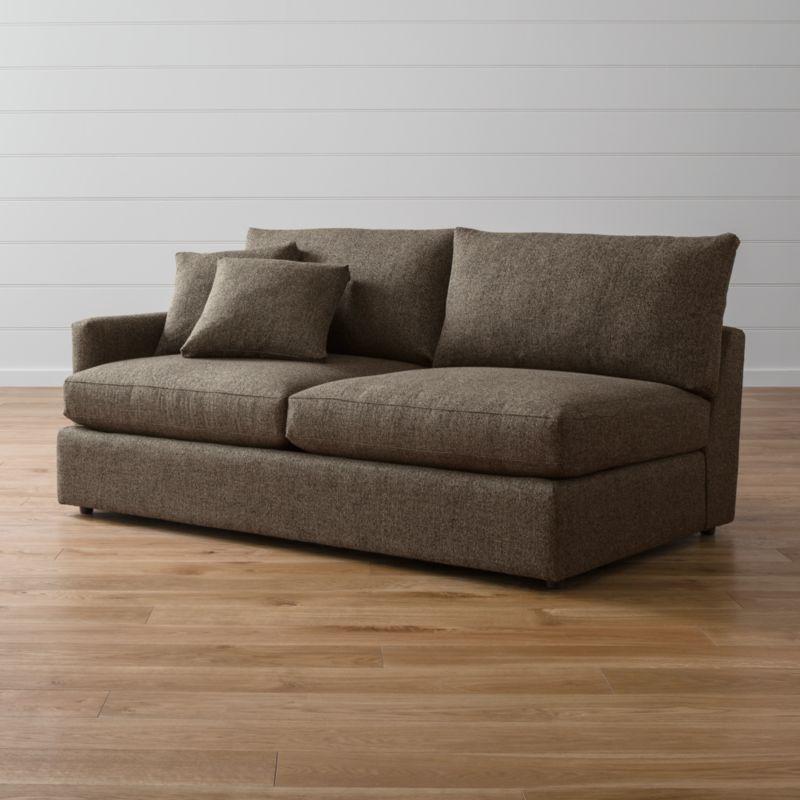 Lounge Ii Left Arm Sofa Taft Truffle Crate And Barrel