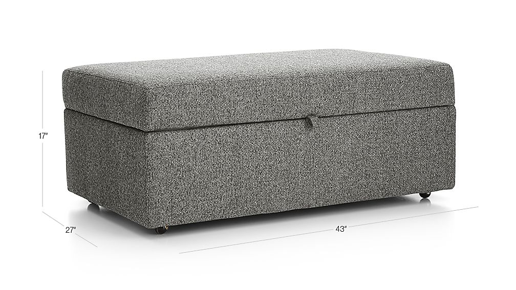 Lounge Ii Storage Ottoman With Tray Taft Steel Crate