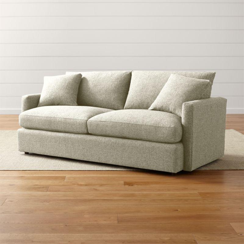 Lounge Ii Petite 83 Quot Sofa Taft Cement Crate And Barrel