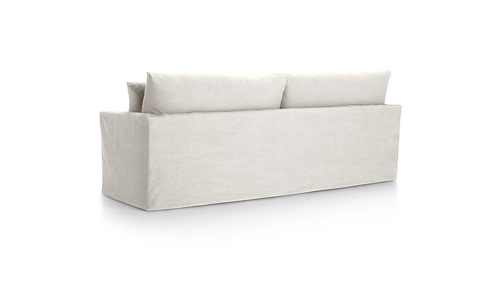 "Lounge II Petite Slipcovered 93"" Sofa"