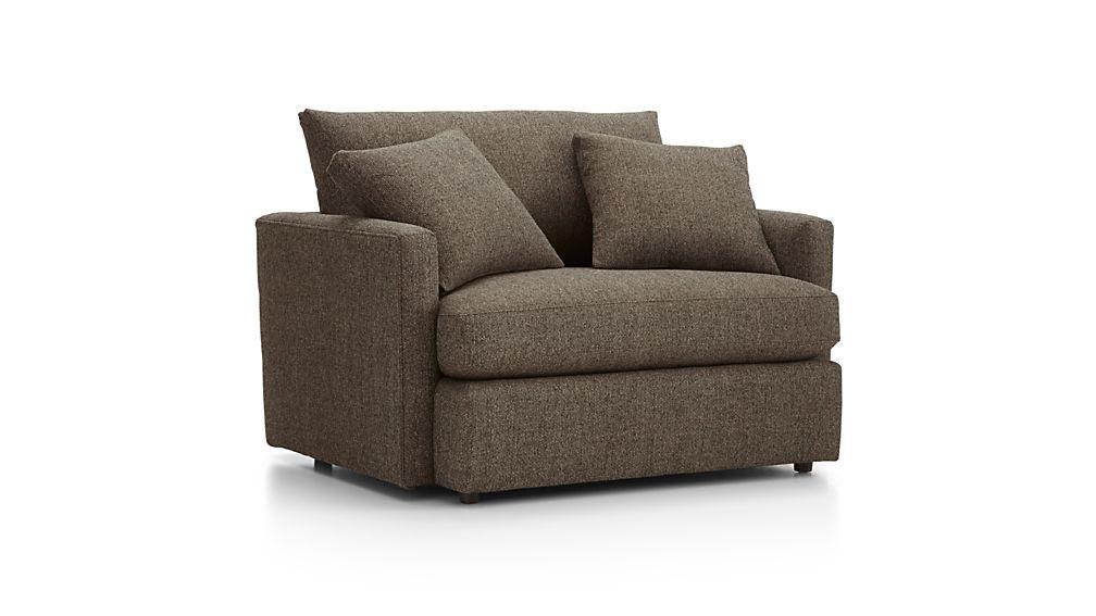 Lounge II Petite Chair and a Half Taft Truffle