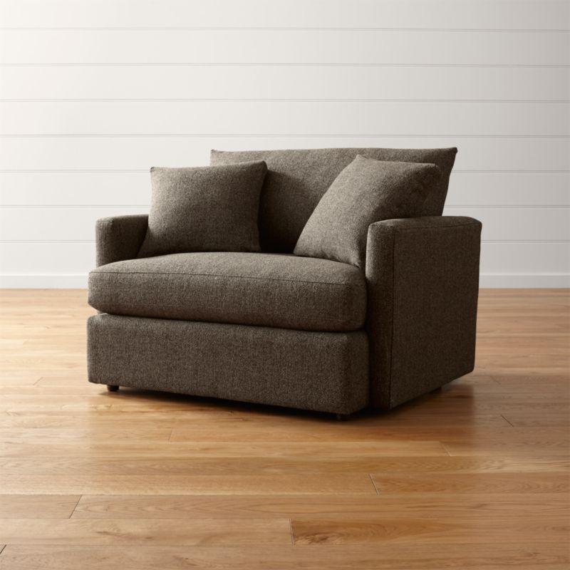 lounge ii chair and a half taft truffle crate