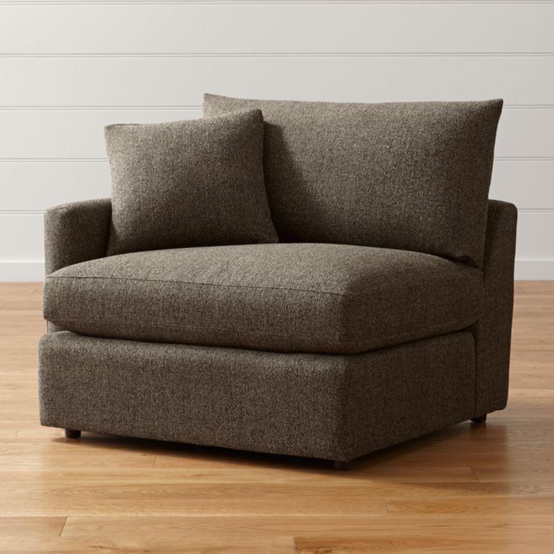 Lounge II Petite Left Arm Chair Taft Truffle