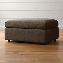 Lounge Ii Storage Ottoman With Casters Taft Steel Crate