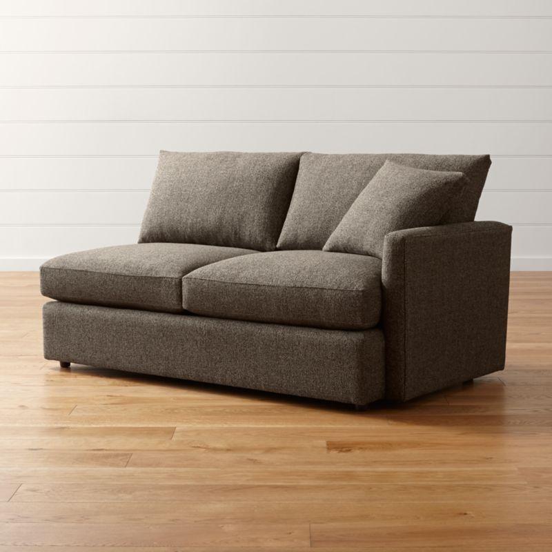 Lounge Ii Petite Right Arm Apartment Sofa Taft Truffle