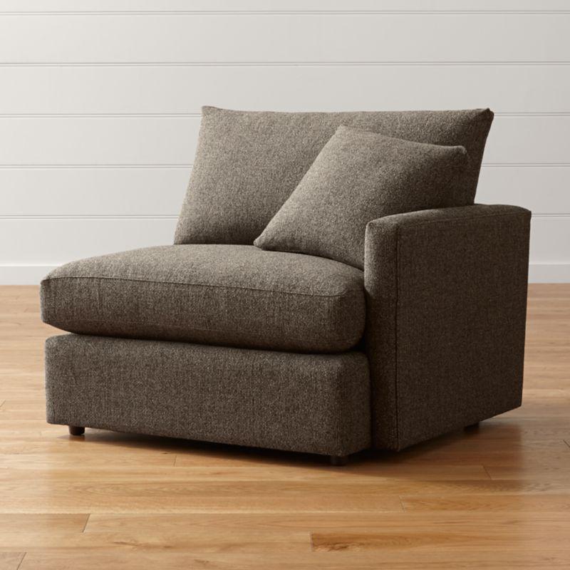Lounge II Petite Right Arm Chair Taft Truffle