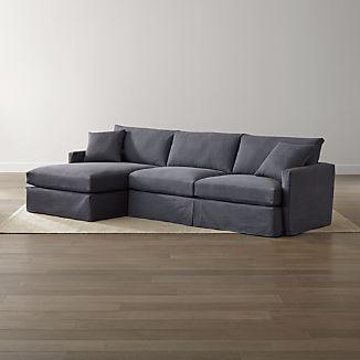 Lounge II Petite Slipcovered 2-Piece Sectional