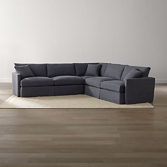 Lounge II Petite Slipcovered 3-Piece Sectional