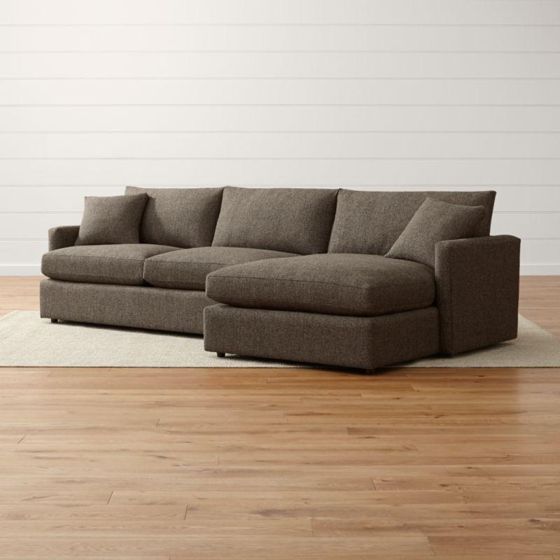 Lounge Ii Petite 2 Piece Sectional Sofa Taft Truffle