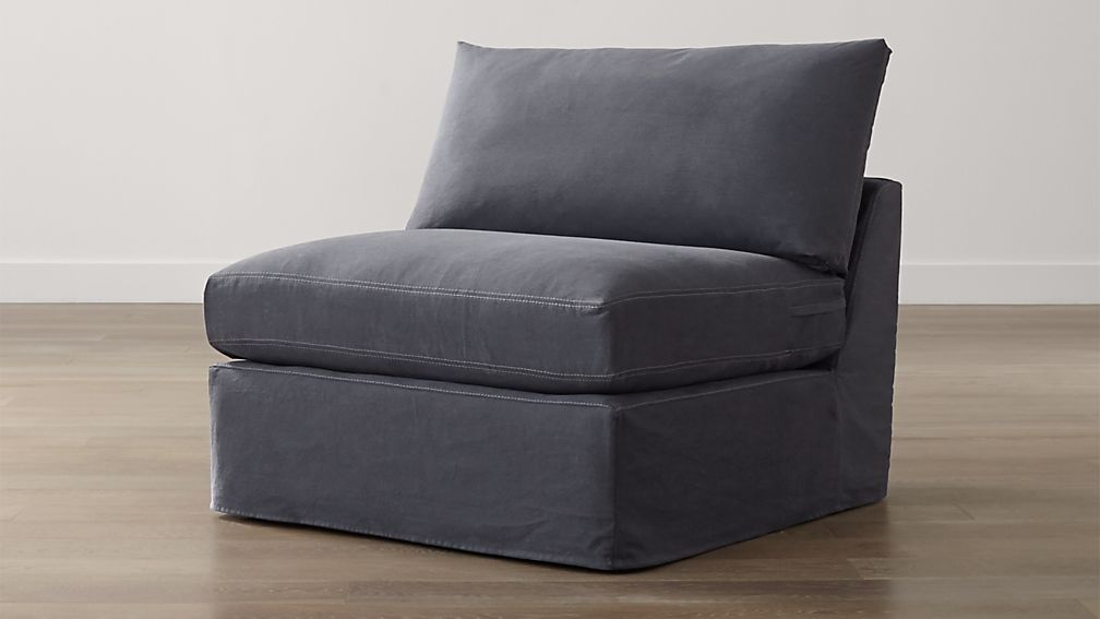 "Lounge II Petite Slipcovered Armless 37"" Chair"