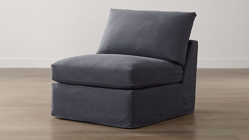 """Slipcover Only for Lounge II Petite Armless 32"""" Chair"""