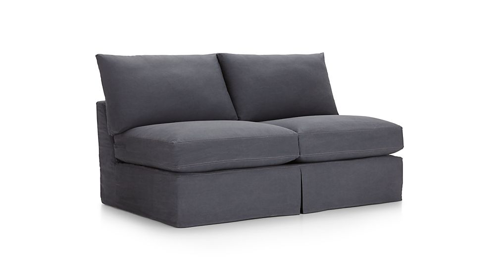 Lounge II Petite Slipcovered Armless Loveseat