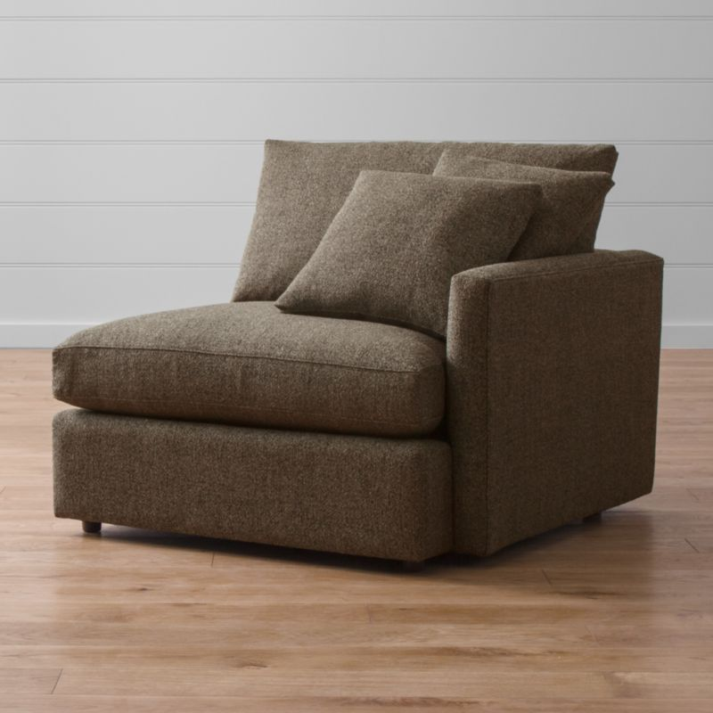 Lounge II Right Arm Chair Taft Truffle