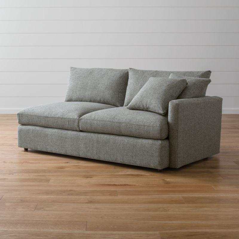Lounge II Right Arm Sofa Taft: Steel | Crate and Barrel