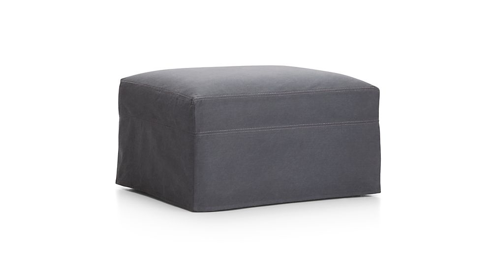 "Lounge II Slipcovered 32"" Ottoman with Casters"