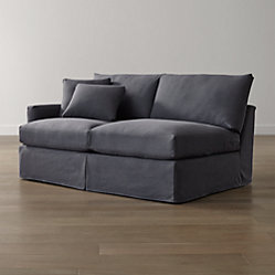 Lounge Ii Slipcovered 2 Piece Sectional Sofa Denim