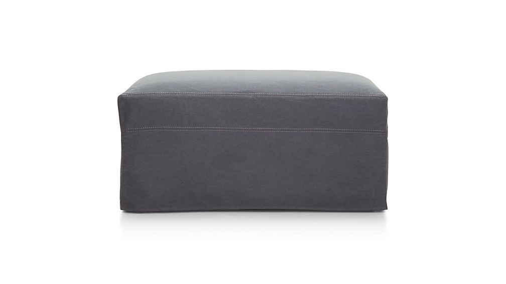 "Lounge II Petite Slipcovered 37"" Ottoman with Casters"