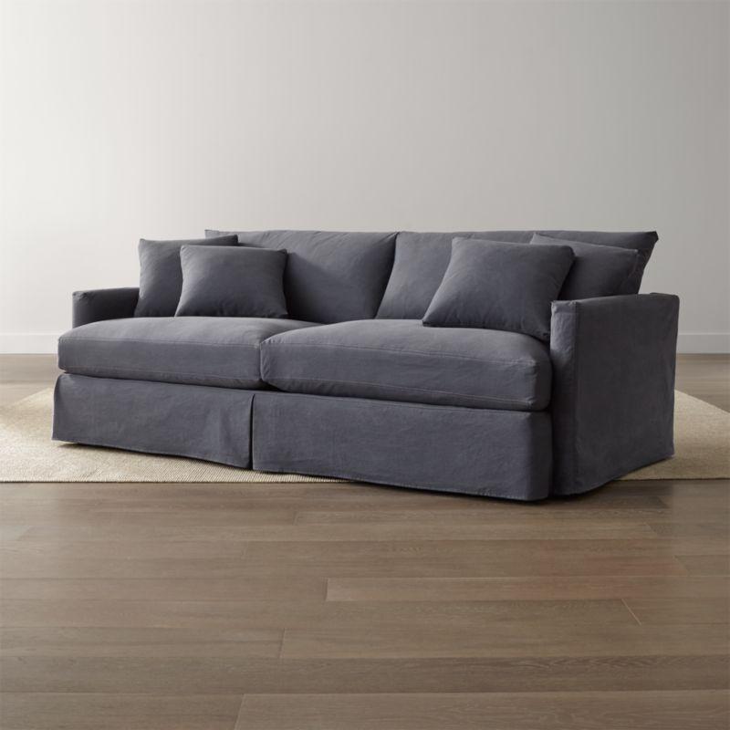 "Lounge II Slipcovered 93"" Sofa"